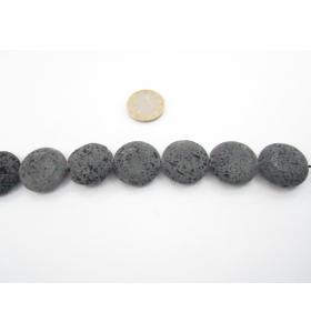 una pietra di lava vulcanica tonda piatta 25 mm.