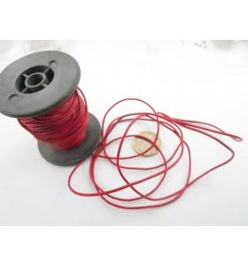 1 metro di cuoio rosso diametro 1,5 mm.