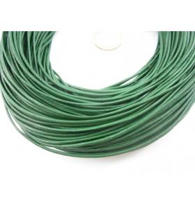 1 metro di cuoio verdone diametro 1,5 mm.