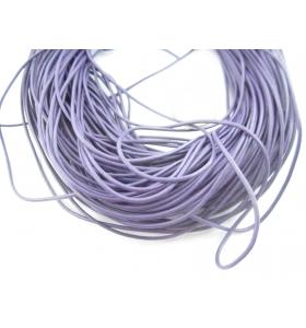 1 metro di cuoio viola diametro 1,5 mm.