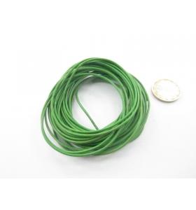 1 metro di cuoio verde diametro 1,5 mm.