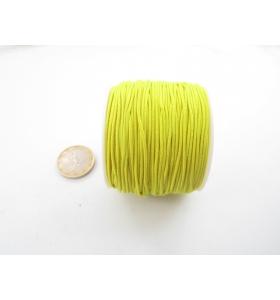 un rotolo di filo elastico giallo composto da 4 fili da 9 metri ciascuno