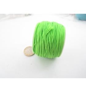 un rotolo di filo elastico verde composto da 4 fili da 9 metri ciascuno
