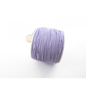 un rotolo di filo elastico lilla composto da 4 fili da 9 metri ciascuno