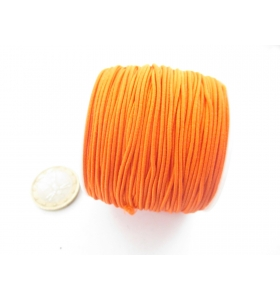 un rotolo di filo elastico arancione composto da 4 fili da 9 metri ciascuno