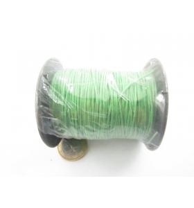 un rotolo di cotone cerato verde