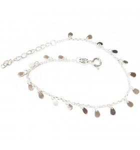 bracciale charms argento 925 lungo da 16,5 a 19,5 cm