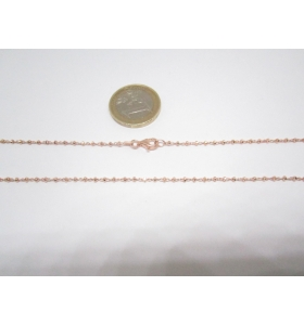 catenina in argento 925 dorato pallini sfaccettati made in Italy