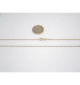 catenina argento 925 dorato lunga 114 cm piccoli cilindri made in italy