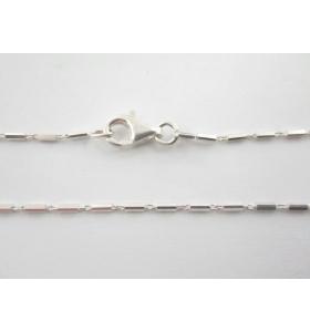 catenina argento 925 lunga 114 cm piccoli cilindri made in italy
