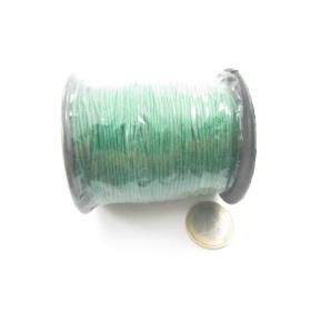un rotolo di cotone cerato azzurro chiaro