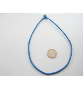 1 girocollo cotone ritorto chiusura a baionetta blu chiaro