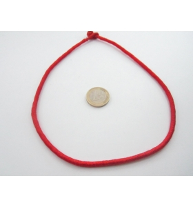 1 girocollo cotone ritorto chiusura a baionetta rooso