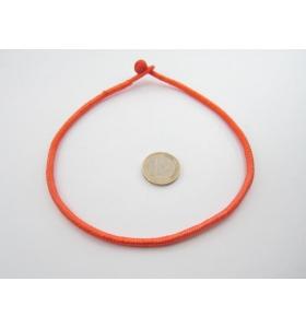 1 girocollo cotone ritorto chiusura a baionetta arancione