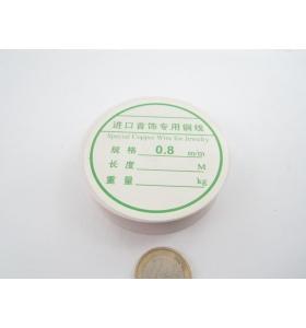 1 ROTOLINO FILO IN RAME DOPPIA RAMATURA LUCIDA  0,8 mm.