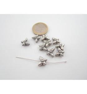 8 dischetti in ottone placcato diametro 10 mm.