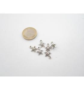 5 ciondolini stellina in argentone 12x9 mm.