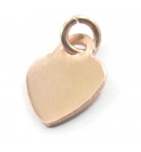 ciondolo charms cuore 12,5x10 mm argento 925 placcato oro rosa 1 pz