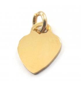 ciondolo charms cuore 12,5x10 mm argento 925 placcato oro giallo 1 pz