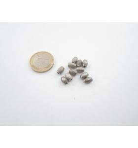 6 componenti in argentone ( argento tibetano ) ovali 7x5  mm.