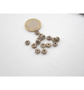 8 componenti in argentone ( argento tibetano ) rosetta 6,59  mm.