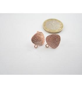2 basi x orecchini in zama ramata triangolo arrotondato 13x15 mm
