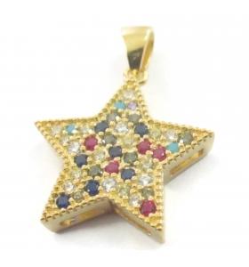 Ciondolo stella zirconi e...
