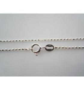 catenina argento 925 sterling lunga 55 cm pallini piccoli made italy spess. 1 mm