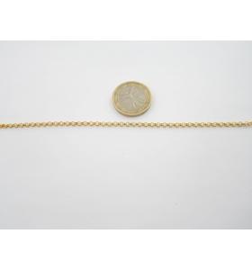 58 cm di catena rolò dorata...