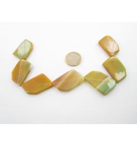 7 pietre di agata verde...