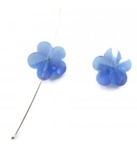 2 fiori  in cristallo blu...