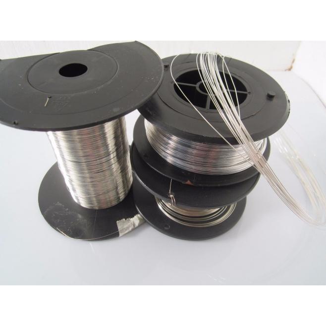 1 metro di filo in argento 925  crudo ( duro ) diametro 0,7 mm made in italy