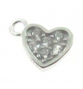 Charms cuore mini 8x5 mm in...