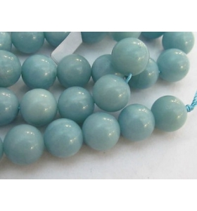 3 perle in amazonite da 10 mm prov. magadascar