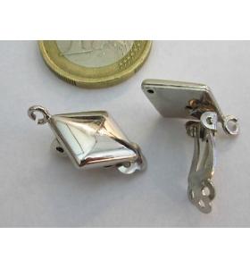 1 clip no foro per orecchini argento 925 rodiato