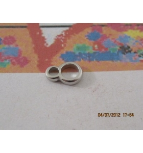1 DOPPIO ANELLO SALDATO ARG925 8E5MM RODIATO MADE IN ITALY