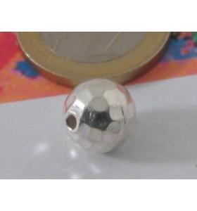 1 PALLINA IN ARGENTO 925 martellata di 12 mm