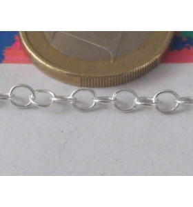 10 cm di catena in argento...