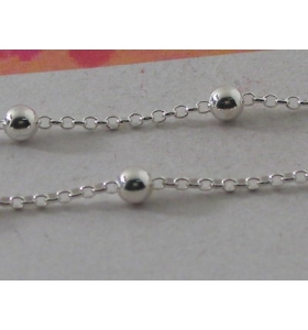 11 cm di catena in argento 925 anellini e pallini grandi adatta a fare i rosari