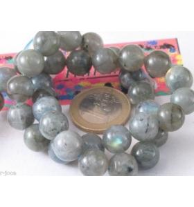 4 perle di labradorite cabochon di 1° scelta di 8 mm provenienza zaire