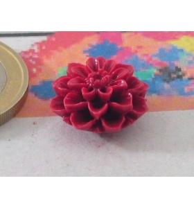 PERLINE 1 fiore in composto cristallizzato14x7 mm rosso