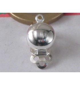 1 clip no foro per orecchini argento 925 italy