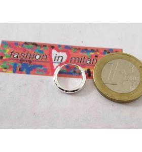 1 orecchino singolo cerchietto in argento 925 di 14 mm