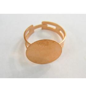1 base anello da incollo in ottone ramato chiaro regolabile base tonda di 16 mm