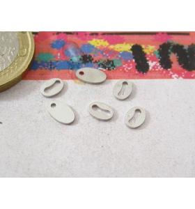 3 etichette foro foro lungo in argento 925 rodiato punzonata 925