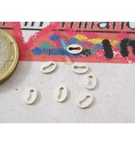 4 etichette foro lungo in argento 925 punzonata 925
