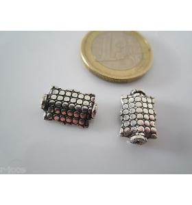 5 componenti in argentone ( argento tibetano ) della misura di 14 x 9 mm asta
