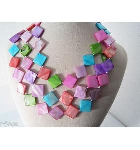 collana lunghissima senza chiusura in madreperla naturale tinta colori ceramici3