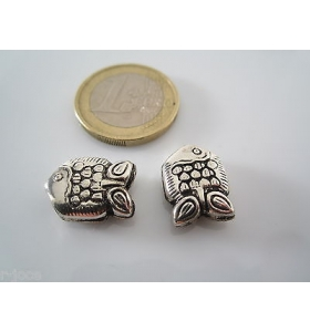 5 componenti in argentone ( argento tibetano ) della misura di 15,5 x 11 mm asta