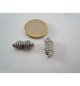 5 componenti in argentone ( argento tibetano ) della misura di 17,5x8,5 mm asta